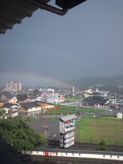 虹見つけました♪